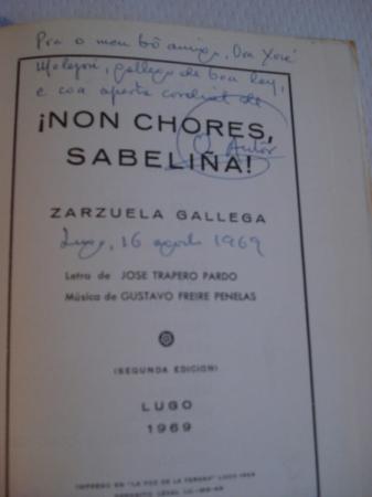 Non chores, Sabeliña (Zarzuela Gallega)