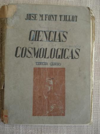 Ciencias Cosmológicas. Tercer Curso
