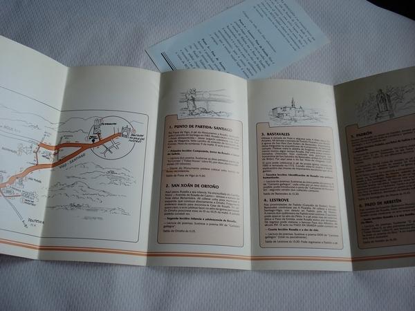 Ruta Rosaliana. Texto: Avelino Abuín de Tembra  (Folleto con mapa e itinerario)