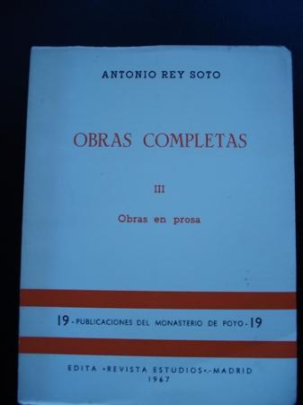 Obras completas III. Obras en prosa