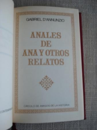 Anales de Ana y otros relatos