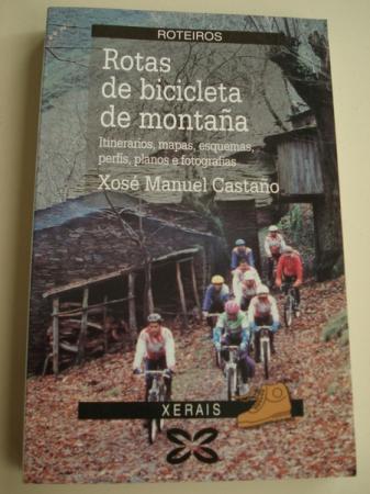 Rotas de bicicleta de montaña. Itinerarios, mapas, esquemas, perfís, planos e fotografías