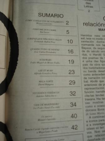 CÓMIC. REVISTA DAS LETRAS (EL CORREO GALLEGO). 5 DE AGOSTO DE 1993