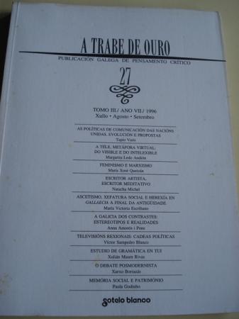 A TRABE DE OURO. Publicación galega de pensamento crítico. Nº 27 - Xullo - agosto - setembro, 1996