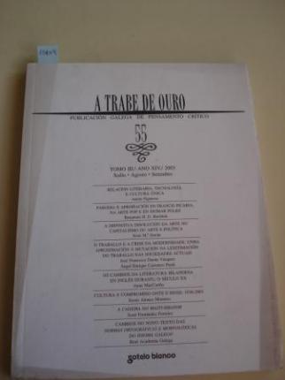 A TRABE DE OURO. PUBLICACIÓN GALEGA DE PENSAMENTO CRÍTICO. Número 55, Xullo-Agosto-Setembro, 2003 - Ver os detalles do produto