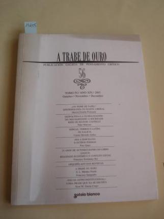 A TRABE DE OURO. PUBLICACIÓN GALEGA DE PENSAMENTO CRÍTICO. Número 56, Outubro-Novembro-Decembro, 2003 - Ver os detalles do produto