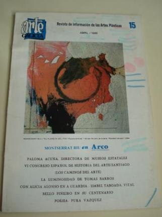 ARTE GALICIA. Revista de información de las artes plásticas gallegas. Número 15 - Abril 1986 - Ver os detalles do produto