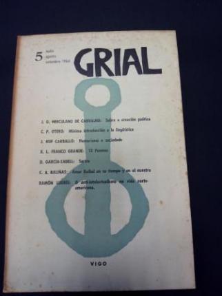 GRIAL. Revista Galega de Cultura. Número 5. Xullo, agosto, setembro 1964 - Ver os detalles do produto