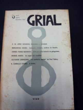 GRIAL. Revista Galega de Cultura. Número 9. Xullo, agosto, setembro 1965 (Relato de Manuel María: As augas van caudales) - Ver os detalles do produto