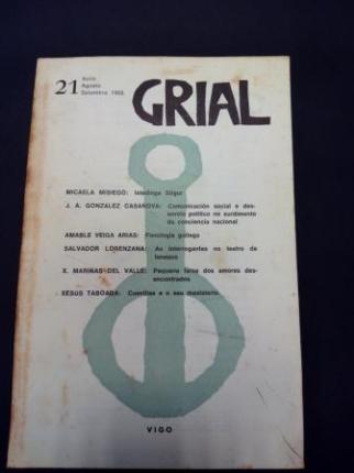 GRIAL. Revista Galega de Cultura. Número 21. Xullo, agosto, setembro 1968 (Obra de teatro de Mariñas del Valle: Pequena farsa dos amores desencontrados) - Ver os detalles do produto