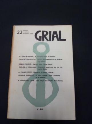 GRIAL. Revista Galega de Cultura. Número 22. Outubro, Novembro, Decembro, 1968 (Obra de teatro de Villar Ponte, A.: Nouturnio de medo e morte) - Ver os detalles do produto