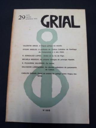 GRIAL. Revista Galega de Cultura. Número 29. Xullo, agosto, setembro 1970 - Ver os detalles do produto