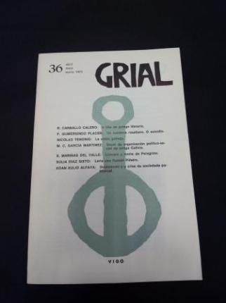 GRIAL. Revista Galega de Cultura. Número 36. Abril, maio, xuño, 1972 - Ver os detalles do produto