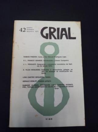 GRIAL. Revista Galega de Cultura. Número 42. Outubro, Novembro, Decembro, 1973 - Ver os detalles do produto