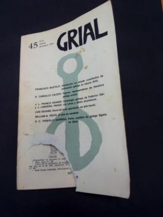 GRIAL. Revista Galega de Cultura. Número 45. Xullo, agosto, setembro 1974 - Ver os detalles do produto