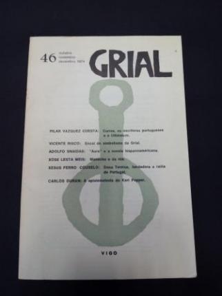 GRIAL. Revista Galega de Cultura. Número 46. Outubro, Novembro, Decembro, 1974 (Relato de Xosé Lesta Meis: Manecho o da rúa) - Ver os detalles do produto