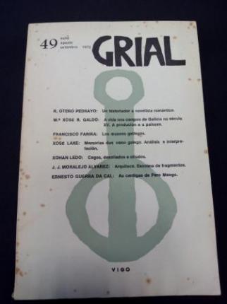 GRIAL. Revista Galega de Cultura. Número 49. Xullo, agosto, setembro 1975 - Ver os detalles do produto