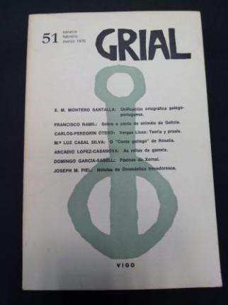GRIAL. Revista Galega de Cultura. Número 51. Xaneiro, febreiro, marzo 1976 - Ver os detalles do produto