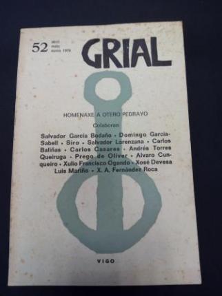 GRIAL. Revista Galega de Cultura. Número 52. Abril, maio, xuño, 1976. HOMENAXE A OTERO PEDRAYO - Ver os detalles do produto