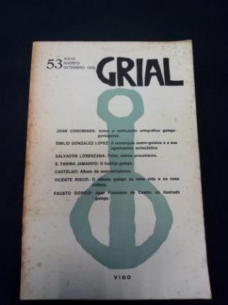 GRIAL. Revista Galega de Cultura. Número 53. Xullo, agosto, setembro 1976 - Ver os detalles do produto