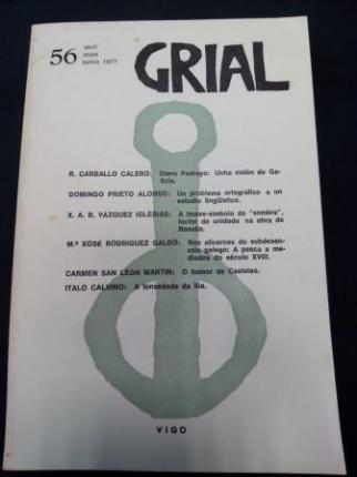 GRIAL. Revista Galega de Cultura. Número 56. Abril, maio, xuño, 1977 - Ver os detalles do produto