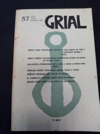 GRIAL. Revista Galega de Cultura. Número 57. Xullo, agosto, setembro 1977 (Obra de teatro de Xenaro Mariñas del Valle: O bosque) - Ver os detalles do produto