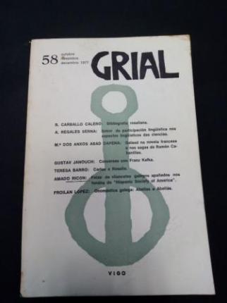 GRIAL. Revista Galega de Cultura. Número 58. Outubro, Novembro, Decembro, 1977 - Ver os detalles do produto