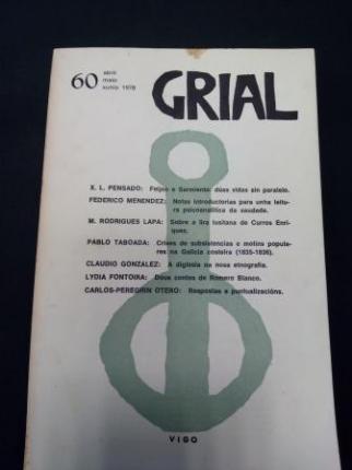 GRIAL. Revista Galega de Cultura. Número 60. Abril, maio, xuño, 1978 - Ver os detalles do produto