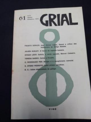 GRIAL. Revista Galega de Cultura. Número 61. Xullo, agosto, setembro 1978 - Ver os detalles do produto