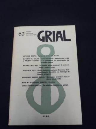 GRIAL. Revista Galega de Cultura. Número 62. Outubro, Novembro, Decembro, 1978 - Ver os detalles do produto