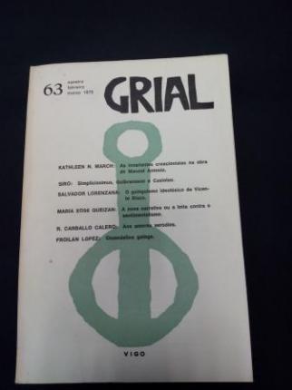 GRIAL. Revista Galega de Cultura. Número 63. Xaneiro, febreiro, marzo 1979 - Ver os detalles do produto