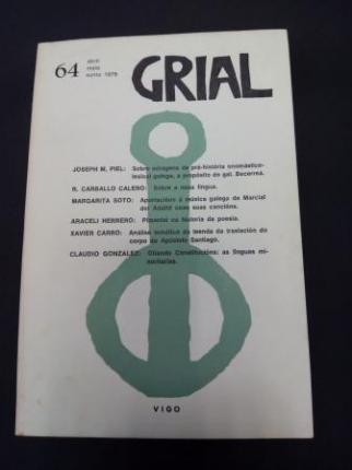 GRIAL. Revista Galega de Cultura. Número 64. Abril, maio, xuño, 1979 - Ver os detalles do produto