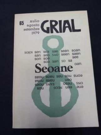 GRIAL. Revista Galega de Cultura. Número 65. Xullo, agosto, setembro 1979. MONOGRÁFICO DEDICADO A LUIS SEOANE - Ver os detalles do produto