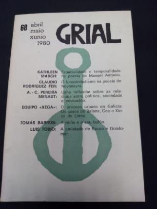 GRIAL. Revista Galega de Cultura. Número 68. Abril, maio, xuño, 1980 (Obra de teatro de Tomás Barros: A raíña e o seu bufón) - Ver os detalles do produto