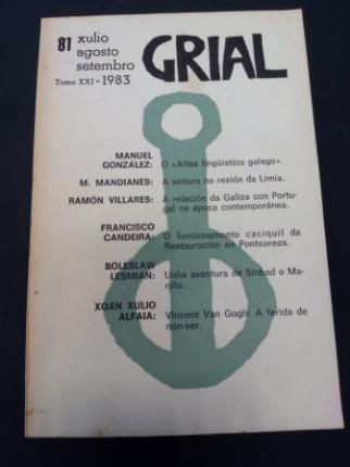 GRIAL. Revista Galega de Cultura. Número 81. Xullo, agosto, setembro 1983. Tomo XXI - Ver os detalles do produto