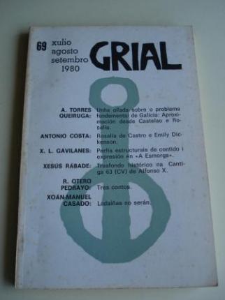 GRIAL. Revista Galega de Cultura. Número 69. Xullo, agosto, setembro 1980 (Otero Pedrayo: Tres contos. As sete portas da sociedade - O barco - O amante da néboa) - Ver os detalles do produto