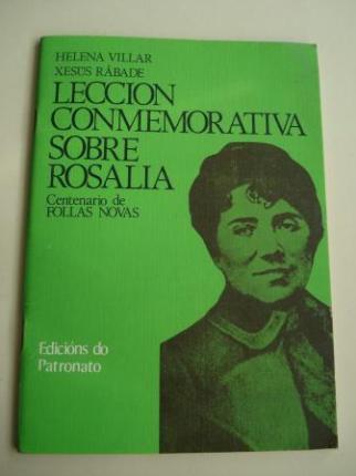 Lección conmemorativa sobre Rosalía. Centenario de Follas Novas - Ver os detalles do produto