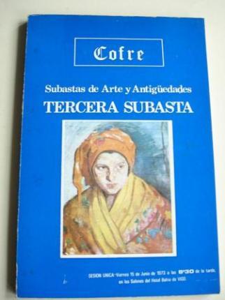 Cofre. Subastas de Arte y Antigüedades. Tercera subasta.Vigo, 1973. Catálogo - Ver os detalles do produto