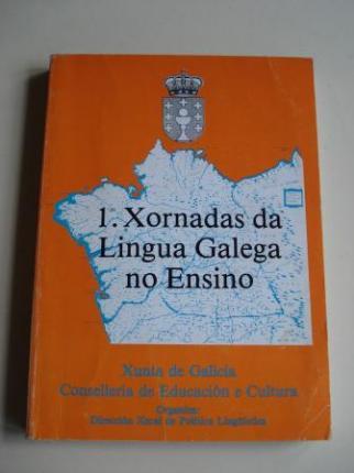 Actas das Primeiras Xornadas da Lingua Galega no Ensino. Santiago de Compostela, 5, 6 e 7 de marzo de 1984 - Ver os detalles do produto