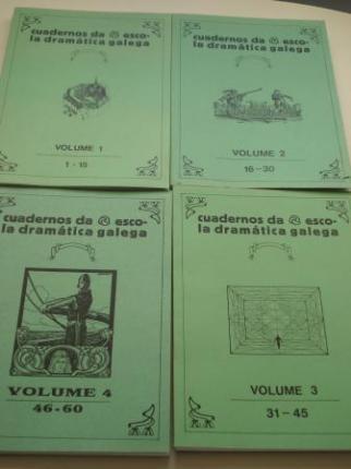 Cuadernos / cadernos da Escola Dramática Galega. Colección completa (105 cadernos) - 4 tomos + Cadernos soltos - Ver os detalles do produto