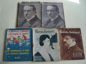 La Novela Semanal. 5 ejemplares (1922  / 1924) - Ver os detalles do produto