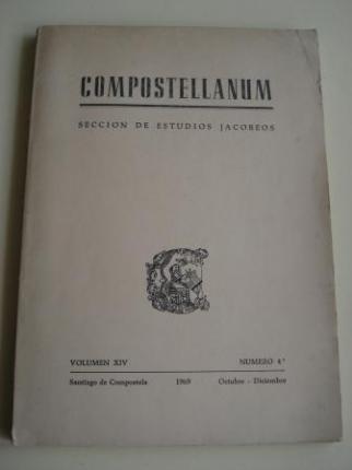 COMPOSTELLANUM. Sección de Estudios Jacobeos. Volumen XIV. Número 4. Santiago de Compostela, Octubre-Diciembre, 1969 - Ver os detalles do produto