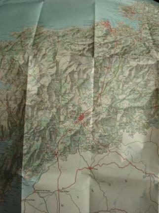 Mapa da provincia da Coruña (Galicia) do Instituto Geográfico Nacional 100 x 85 cm. Escala 1:200.000 - Ver os detalles do produto