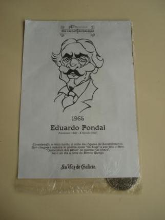 Eduardo Pondal / Francisco Añón. Medalla conmemorativa 40 aniversario Día das Letras Galegas. Colección Medallas Galicia ao pé da letra - Ver os detalles do produto