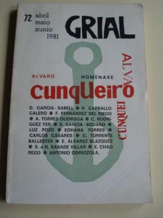GRIAL. Revista Galega de Cultura. Homenaxe a Álvaro Cunqueiro. Número 72. Abril-maio-xuño, 1981 - Ver os detalles do produto