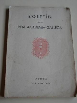 Boletín de la Real Academia Gallega. Números 281-284. A Coruña, Junio 1945 (Vicente Risco, Xaquín Lorenzo, Ramón Villar Ponte...) - Ver os detalles do produto