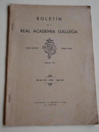 Boletín de la Real Academia Gallega. Número 273. A Coruña, Mayo 1943 (Couceiro Freijomil: Puentedeume y su comarca -continuación-) - Ver os detalles do produto