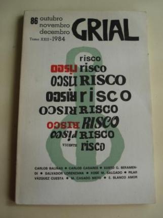 GRIAL. Nº86. Outubro-novembro-decembro, 1984. Vicente Risco - Ver os detalles do produto