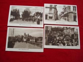 Lote de 4 tarxetas postais de Noia (Noya) - Década de 1920 - Ver os detalles do produto