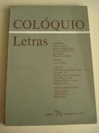 COLÓQUIO LETRAS. Revista bimestral. Número 76. Novembro de 1983 - Ver os detalles do produto